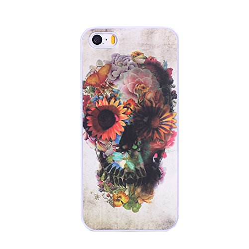 EVERMARKET(TM) Unique Floral Sugar Skull Hard Case for Iphone 5 5S (same as picture)