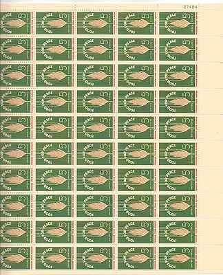 Wheat/Food for Peace Sheet of 50 x 5 Cent US Postage Stamps NEW Scot 1231