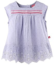 Cap Sleeve Embroidered Top - Purple (2-3 Y)