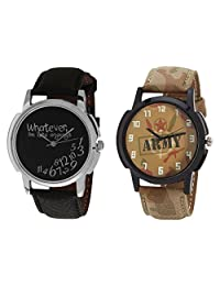 Relish Black Analog Round Casual Wear Watches For Men