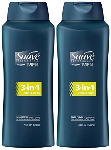 Suave Men 3-in-1 Shampoo + Conditioner + Body Wash - Citrus Rush - 28 oz - 2 pk (Shampoo And Conditioner For Men compare prices)
