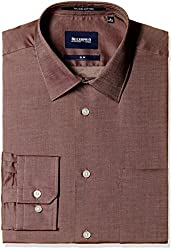 Blackberrys Men's Formal Shirt (8907196413503_NSSCOTTBRAN16BPQ_44_Brown)