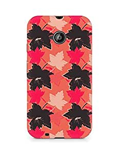 Amez designer printed 3d premium high quality back case cover for Motorola Moto E2 (Leaves maple surface texture)