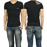 (エンポリオアルマーニ)EMPORIO ARMANI エンポリオアルマーニアンダーウェア メンズVネックTシャツ 110810 4P725 ブラック [並行輸入商品]