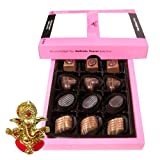 Chocholik - Lovely Delicious Chocolates With Ganesha Idol - Diwali Gifts