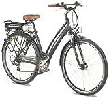 Ruhrwerk Fahrrad (622 mm) E-Bike Pedelec 24 V Da. Trekk. Gaze mit 8-Gang Shimano Kettensch., gef. mit Nabendynamo, tiefschwarz matt, 45 cm, 28 Zoll Rezessionen Picture