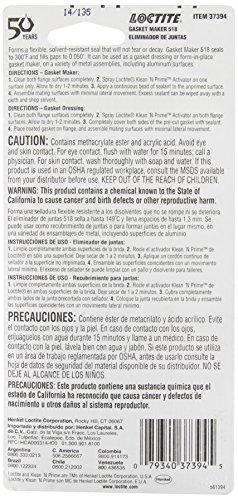 Loctite 37394 Anaerobic Gasket Maker - 1.69 oz.