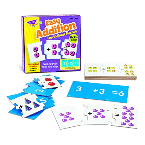 Trend Enterprises Easy Addition Fun-to-Know Puzzle