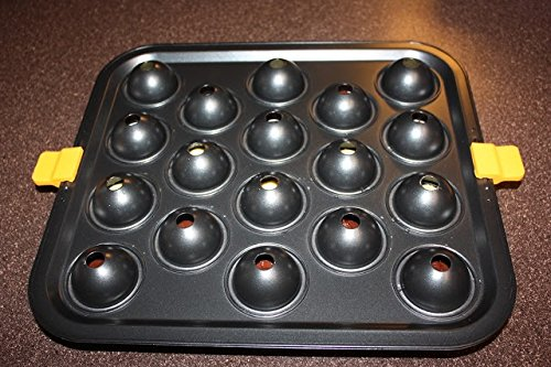 cake pop mold brownie ball shape maker baking pan non stick bakeware set w 18 lollipop sticks. Black Bedroom Furniture Sets. Home Design Ideas