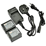DSTE® 2pcs NP-FF70 Replacement Li-ion Battery + Charger DC07U for Sony NP-FF50, NP-FF51, NP-FF51S, NP-FF70, NP-FF71, NP-FF71S