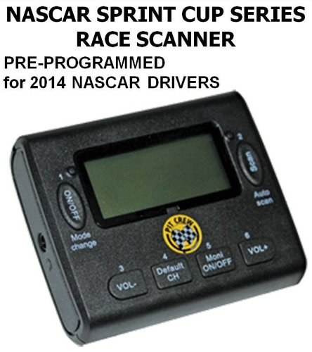 Nascar Race Radio Scanner - Pre-Programmed (50 Channels) To The 2014 Nascar Sprint Cup Series Racing Drivers ** Also Includes: Belt Clip, Earphones, Leather Travel Carrying Case