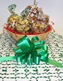 Scott's Cakes Small Nanny's Christmas Surprise Cookie Basket with no Handle Holly Wrapping