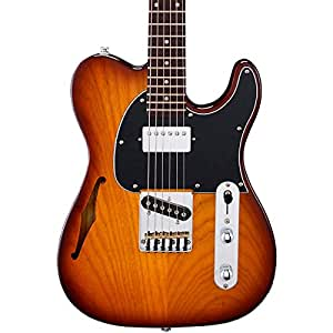 G&L Tribute ASAT Classic Bluesboy Semi-Hollow Electric Guitar Tobacco Sunburst Rosewood Fretboard
