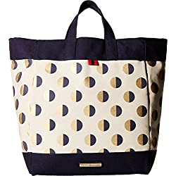 Tommy Hilfiger Jean - Metallic Dot Canvas Tote - Natural/Navy