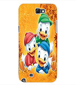 ColourCraft Lovely Cartoon Characters Design Back Case Cover for SAMSUNG GALAXY NOTE 2 N7100