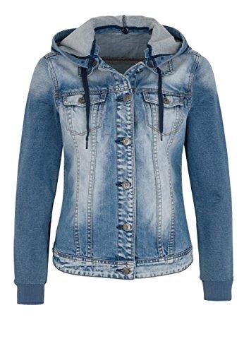 Million X -  Giacca  - Camicia - Basic - Maniche lunghe  - Donna Light blue denim (910) 44