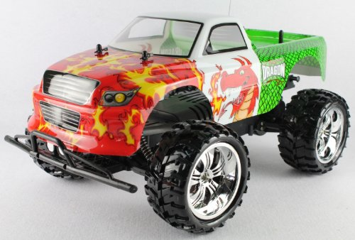Radio Control RED DRAGON 1:10 Scale 9.6v licensed monster truck complete kit with all batteries and charger FF+RTR