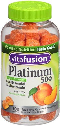 Vitafusion 50岁之上综合维生素软糖 100颗