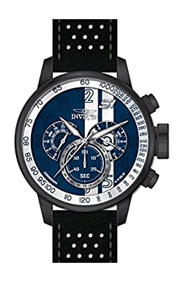 Invicta Men's 19293 S1 Rally Stainless Steel Watch With Black Leather Band