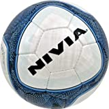 Nivia Vertigo Football, Size 5 (White/Blue)