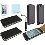 ZAFOORAH® Leather Case Cover for Apple iPod Touch 5 5th Generation +Free Stylus+Screen Protector+Microfiber Cloth
