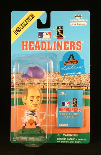 MATT WILLIAMS / ARIZONA DIAMONDBACKS * 3 INCH * 1998 MLB Headliners Baseball Collector Figure