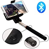Nero wireless Bluetooth Remote Selfie Monopiede telescopico + regolabile phone supporto + USB Cavo ricarica Per iPhone 4/4S 5/5G/5S/5C/6/6plus; Samsung galaxy S2 S3 S4 S5 HTC ONE M7 / ONE mini M4 / ONE X / ONE S / DROID DNA XC205