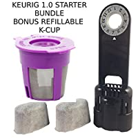 Keurig 1.0 Water Filter Assembly K-Cup Reusable Filter & 2 Replacment water Filter (1)