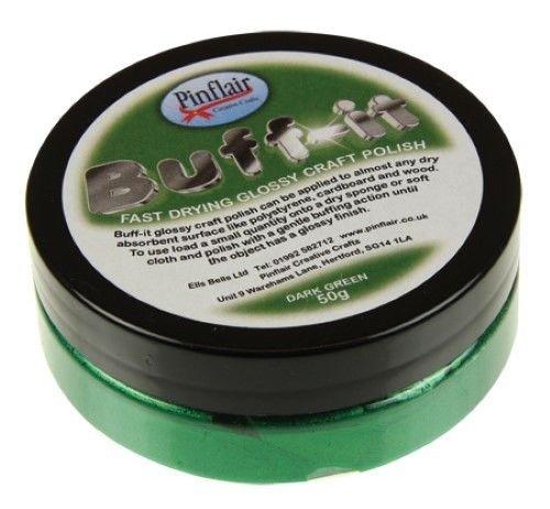 Buff-It Pinflair Craft Vernis Vert foncé 50 g