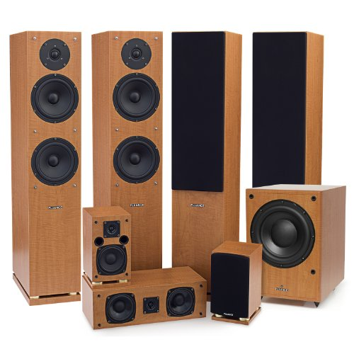 Fluance Sx Series 7.1 Home Theater Surround Sound Speaker System With Floorstanding Surrounds & Db150 Powered Subwoofer