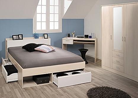 """Parisot Schlafzimmer-Set """"Most 55"""" Akazie-Weiß"""