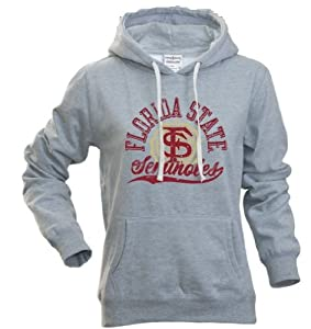 Florida State Seminoles Ladies Hooded Sweatshirt Gray by Elite Fan Shop