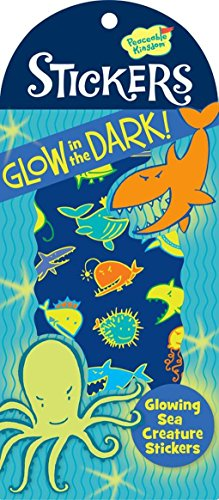 Peaceable Kingdom Glow in the Dark Sea Creature Sticker Pack