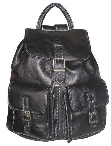 sacs a dos et accessoires sac dos femme 32543en cuir noir. Black Bedroom Furniture Sets. Home Design Ideas