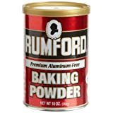 Rumford Aluminum Free Baking Powder, 8.1-Ounce Canisters (Pack of 6) ~ Rumford