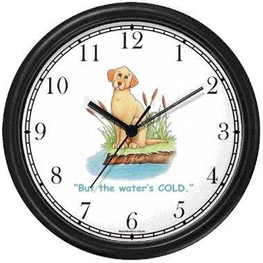 Yellow Labrador Retriever Dog Cartoon or Comic - JP Animal Wall Clock by WatchBuddy Timepieces
