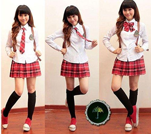 cosmic rider 大きめ3サイズ キュート コスプレ 女子高生 制服 ブレザー チェック柄 (XL)