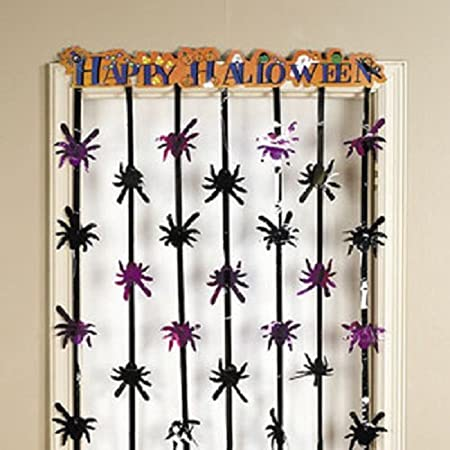 Foil Happy Halloween Door Curtain Hanging Party Decorations