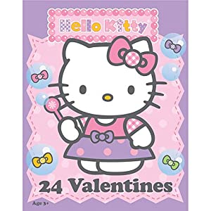 Amazon.com: Hello Kitty Value Valentine's Day Cards 24ct ...