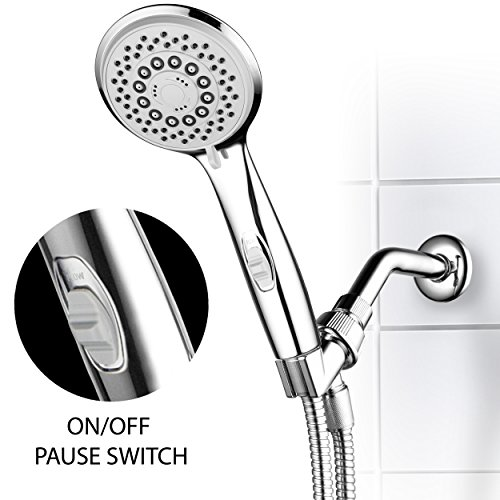 HotelSpa® High-Power Spiral 7-Setting Ultra-Luxury Handheld Shower-Head with Patented ON/OFF Pause Switch by Top Brand Manufacturer (On Off Shower Head compare prices)