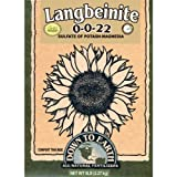Down To Earth Langbeinite Sulfur Potassium and Magnesium Fertilizer, 5 lb. (Tamaño: 5 Pound)