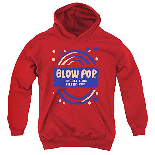 Tootsie Roll Chocolate Candy Lollipop Blow Pop Rough Painted Big Boys Hoodie