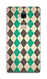 AMEZ designer printed 3d premium high quality back case cover for Huawei Honor 5X (pattern diamond)