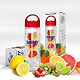 Savvy Infusion Water Bottle - Create Your Own Naturally Flavored Fruit Infused Water, Juice, Iced Tea, Lemonade & Sparkling Beverages