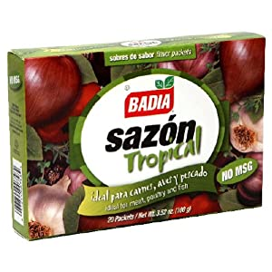 Badia, Sazon Tropical No Msg 20Pk, 3.52-Ounce (12 Pack)