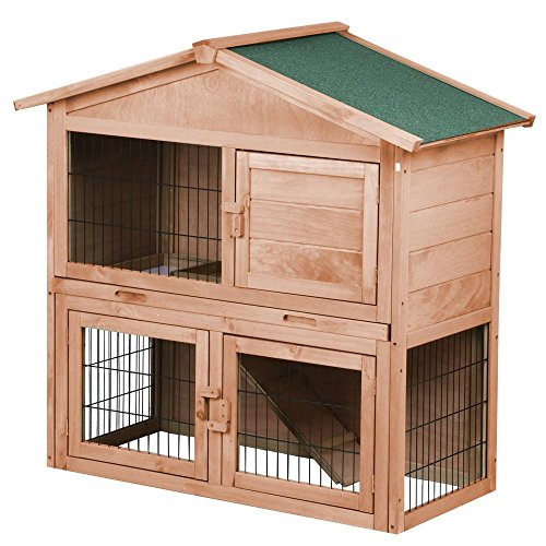 Yaheetech-40-A-Frame-Wooden-Rabbit-Hutch-Small-Animal-House