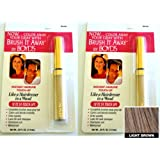 Renoir x2 Brush It Away Instant Hairline Touch-up Light Brown + 7in Brilliance Comb