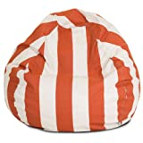 Majestic Home Goods Vertical Stripe Bean Bag, Small, Burnt Orange