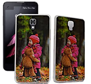 ECellStreet Exclusive Transparent Printed Soft Back Case Cover Back Cover For LG X screen - Small Girl