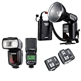 Godox Witstro AD360II-C TTL effective Speedlite Flash+PB960 Lithium power Ebony +2x Godox TT685C Camera Flash+Godox X1 TTL Remote Trigger Transmitter& Receiver for Canon EOS Camera+HuiHuang no-cost present